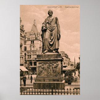 Vintage Goethe Monument Frankfurt Germany Poster