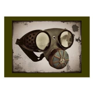 Vintage Goggles Respirator Image Large Business Card