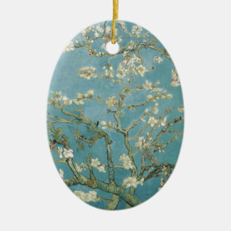 Vintage Gogh Almond Branches Park Trees Blossoms Ceramic Ornament