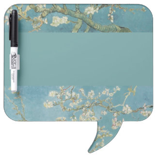 Vintage Gogh Almond Branches Park Trees Blossoms Dry-Erase Board