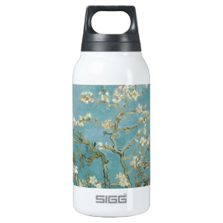Vintage Gogh Almond Branches Park Trees Blossoms Insulated Water Bottle