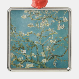 Vintage Gogh Almond Branches Park Trees Blossoms Metal Ornament