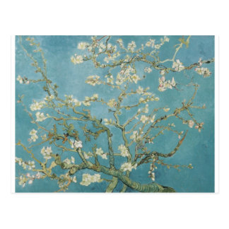 Vintage Gogh Almond Branches Park Trees Blossoms Postcard