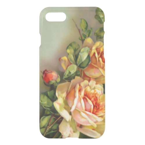 Vintage Gold and Blush Roses Phone Case