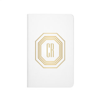 Vintage Gold Art Deco Initials Monogram Journal