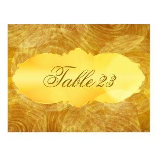 Vintage gold banner Table Number Card Postcards