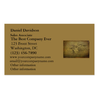 Vintage Gold Birds Line Drawings Business Cards