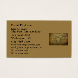 Vintage Gold Birds Line Drawings Business Card