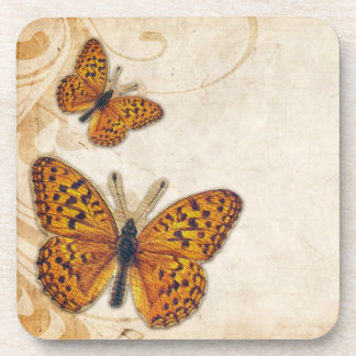 Vintage Gold Butterfly Coaster