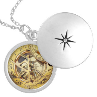 Vintage Gold Compass image necklace
