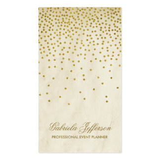 Vintage Gold Confetti Elegant Business Card