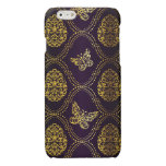 vintage,gold,damask,butterfly,pattern,chic,girly, glossy iPhone 6 case
