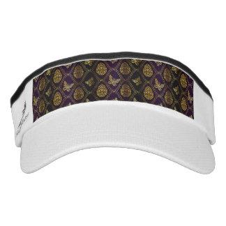 vintage,gold,damask,butterfly,pattern,chic,girly, visor