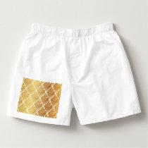 Vintage,gold,damask,floral,pattern,elegant,chic,be Boxers