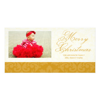 VINTAGE GOLD DAMASK | HOLIDAY PHOTO CARD