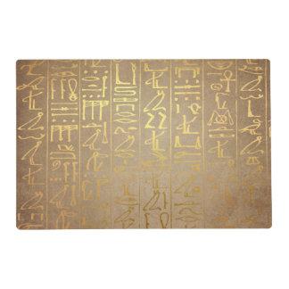 Vintage Gold Egyptian Hieroglyphics Paper Print Placemat