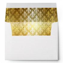 Vintage,gold,fleur de lis,antique,vintage,chic,fun envelope