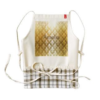 Vintage,gold,fleur de lis,antique,vintage,chic,fun zazzle HEART apron