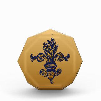 Vintage Gold Fleur de lis Award