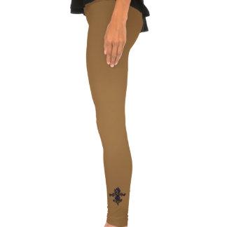 Vintage Gold Fleur de lis Legging Tights
