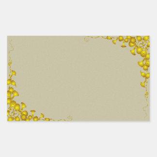 Vintage Gold Floral Corner Label Sticker