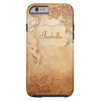 Vintage Gold Floral Tough iPhone 6 Case