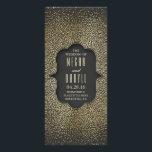 "Vintage Gold Glitter Confetti Wedding Programs<br><div class=""desc"">glamour vintage wedding programs with gold glitter or faux gold foil confetti dots</div>"