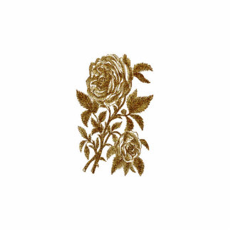 Vintage gold glitter effect roses pattern standing photo sculpture