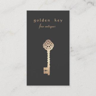 Vintage Gold Key Business Card
