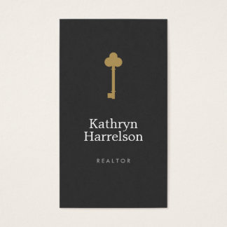 Vintage Gold Key Real Estate Interior Designer I Business Card