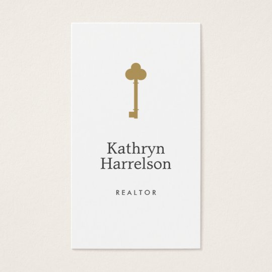 Real estate business cards 4200 real estate business card templates vintage gold key real estate interior designer ii business card reheart Image collections