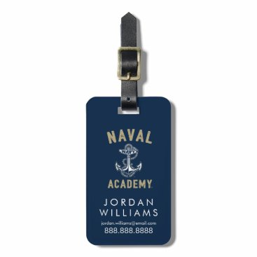 Vintage Gold Naval Academy Anchor Bag Tag