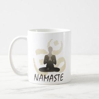 Vintage Gold Om Sign Namaste Yoga & Mediation Coffee Mug