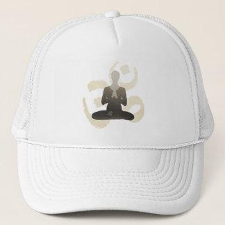 Vintage Gold Om Sign Namaste Yoga & Mediation Trucker Hat