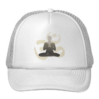 Vintage Gold Om Sign Namaste Yoga & Mediation Trucker Hat
