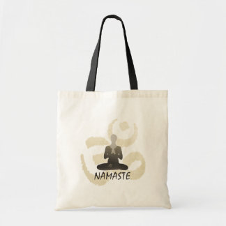 Vintage Gold Om Sign Namaste Yoga Tote Bag