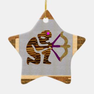 VINTAGE Gold PREMIUM gifts: Hunter Bow n Arrow TIP Ceramic Ornament