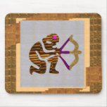 VINTAGE Gold PREMIUM gifts: Hunter Bow n Arrow TIP Mousepad