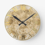 Vintage Gold  Roman Numeral Wall Clock