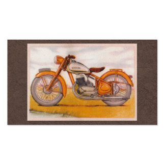 Vintage Gold Socovel Motorcycle Print Double-Sided Standard Business Cards (Pack Of 100)
