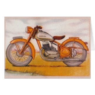 Vintage Gold Socovel Motorcycle Print Card