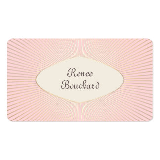 Vintage Gold Sunburst Blush Pink Cosmetology Chic Double-Sided Standard Business Cards (Pack Of 100)