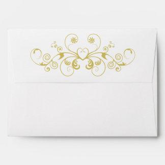 Vintage Gold Swirl Ornate Envelope