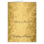 Vintage Gold Wedding Program Cards