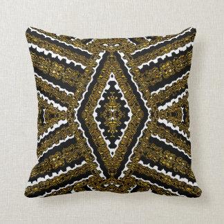 Vintage Gold & White Frills Geometric  Cushion Throw Pillows