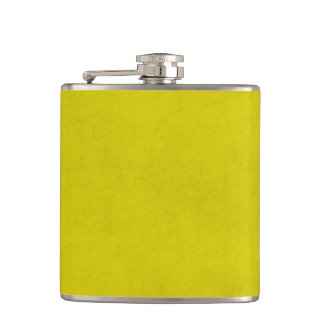 Vintage Gold Yellow Parchment Background Template Flask