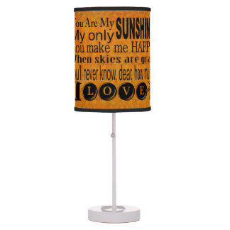Vintage Gold You Are My Sunshine Table Lamp