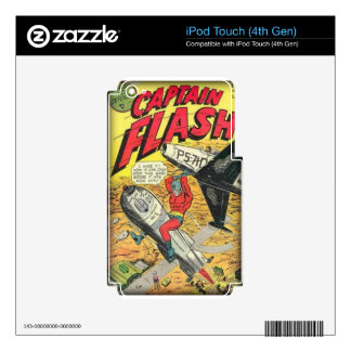 Vintage Golden Age Comic Book iPod Touch 4G Decals