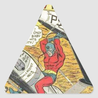 Vintage Golden Age Comic Book Triangle Sticker