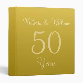 Vintage Golden Anniversary Scrapbook Binder